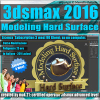 3ds max 2016 Modeling Hard Surface 3 Mesi Subscription