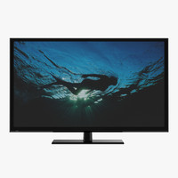 3dsmax generic plasma tv 3