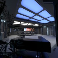 starship interior conference room 3ds
