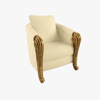 3d armchair pharaon