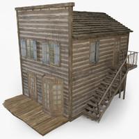 wild west house 3d 3ds