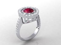 3d ring ruby