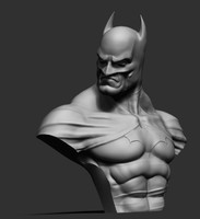 3d batman bust model