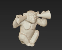 3d model holiday monkey primate deaf