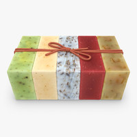 organic soap set 3d 3ds