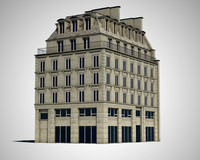 3d model paris house exterior