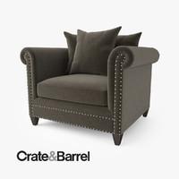 3d crate barrel durham chair