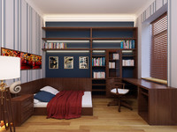 3d interior boy bedroom