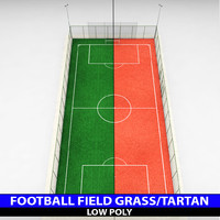 3d football soccer stadium field model