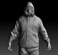 zbrush male character 3d obj
