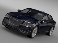 3d model chrysler 300c platinum awd