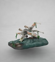3d planet airplane