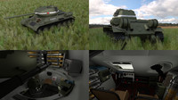 obj soviet tank interior hdri