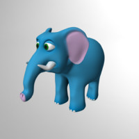 rigged elephant obj