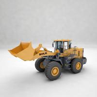 3d bulldozers model