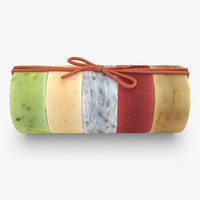 organic soap set 3 3d model
