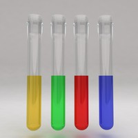 test tube liquid 3d obj