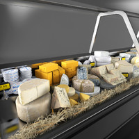 3d cheese deli model