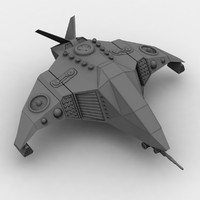 3d model of sci-fi space ship