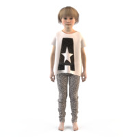3d fashion child dressed
