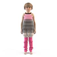 3ds max fashion child dressed