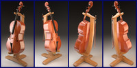 3d model violoncello bow stand cello