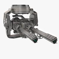 3d cannon sci-fi model