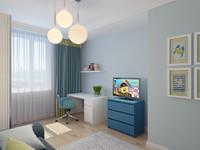 3d interior boy bedroom 5 model