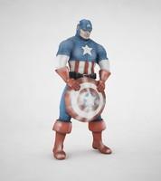 captain america 3d max