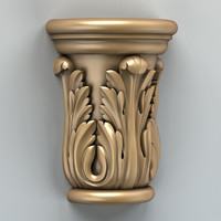 x carved column capital