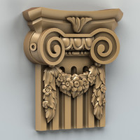 carved column capital 3d obj
