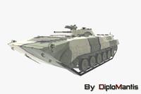 3d model soviet bmp-1