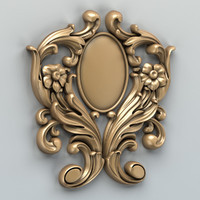 carved verical decor 3d max