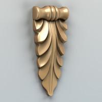 3d model carved verical decor