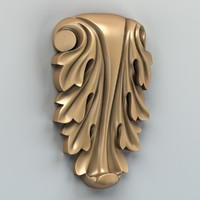 3d carved verical decor