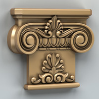 carved column capital 3d model