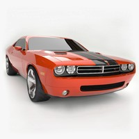 2006 dodge usa challenger 3d model