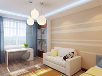 3d model interior boy bedroom
