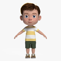 cartoon boy 3D models