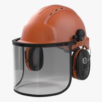 3d model safety helmet 2 orange