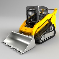 multi terrain loader 3d dxf