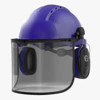 3d model safety helmet 2 blue