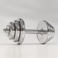 3d max solid dumbbells