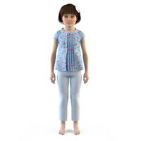 3d model fashion baby girls