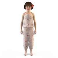 3d model fashion clothing baby