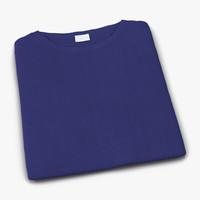 folded blue 3d model