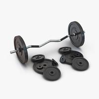 3d model barbell plates