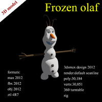 3d model of frozen olaf