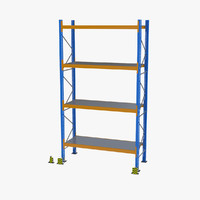 3d model of storage shelf