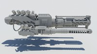 spaceship cannon 3d model